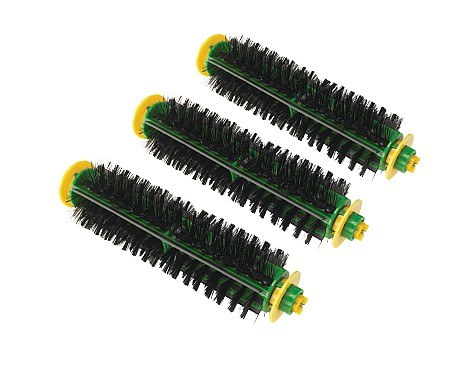 Red or Green Cleaning Head Replacement Bristle Brushes, 3-Pack