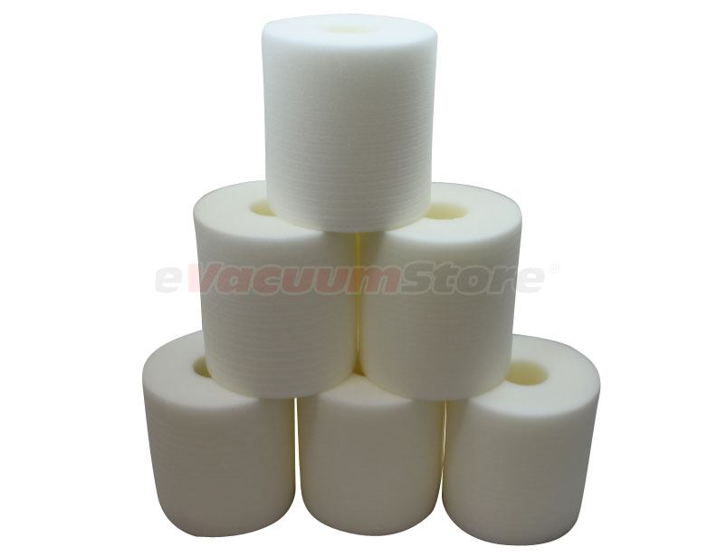 Electrolux Central Vacuum White Foam Filter - 6 Pack