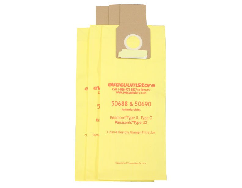 Panasonic Type U-2, U-10 Upright Vacuum Bags - 3 pack