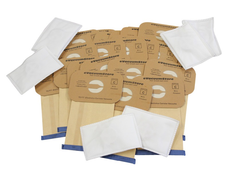 Electrolux 25 Pack Generic Style C  Bags and 6 Pack After Filters