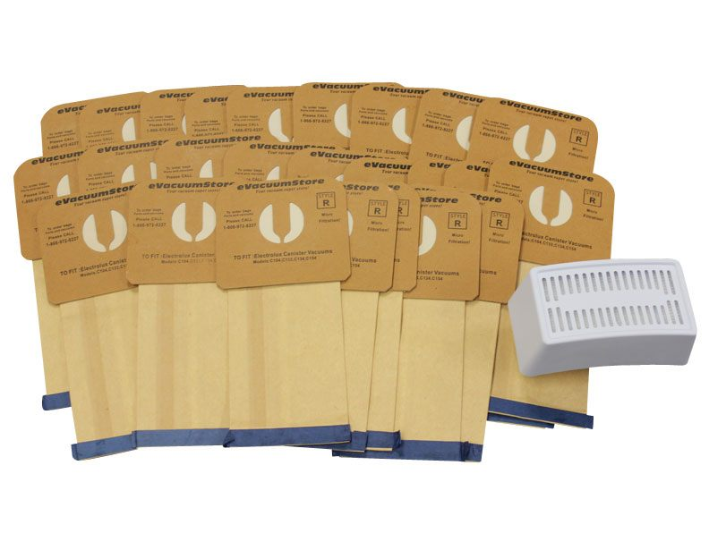 Electrolux 25 Pack Generic Style R Bags and Blue Guardian HEPA Filter