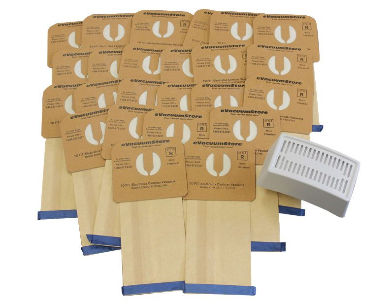 Electrolux 25 Pack Generic Style R Bags and Oyster Guardian HEPA Filter