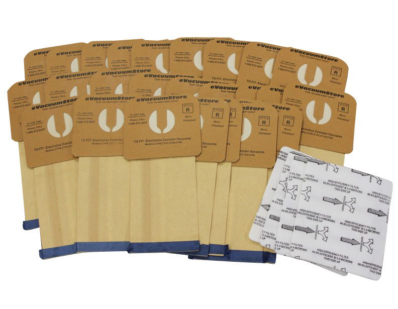 Electrolux 25 Pack Generic Style R Bags and 4 Pack Renaissance After Filters