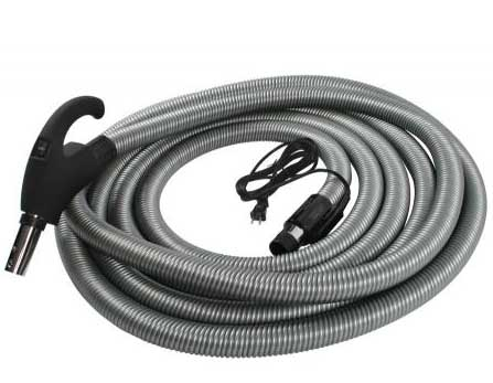 Cen-Tec 30 FT Central Vacuum Hose with Pigtail Cord and Flush Cord Management