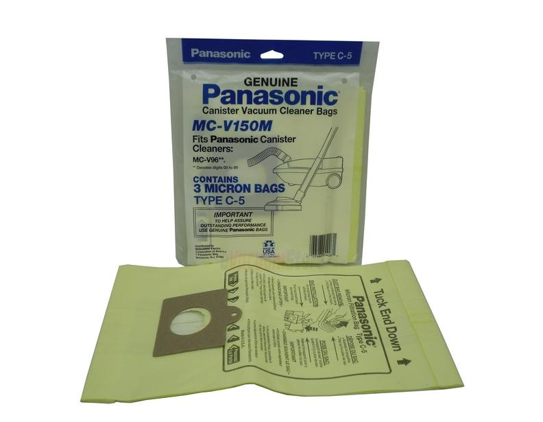 12 Pack Genuine Panasonic Style C 5 Bags