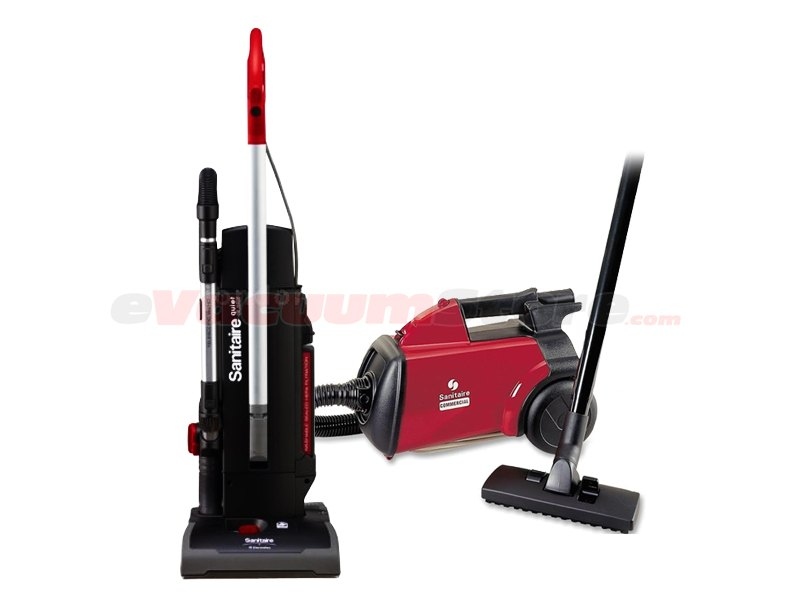 Sanitaire Multipack - SC3683 Mighty Mite Canister Vacuum and SC9180B Commercial Upright Vacuum