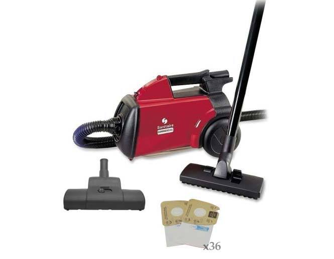Sanitaire Mighty Mite Canister Vacuum Deluxe Package