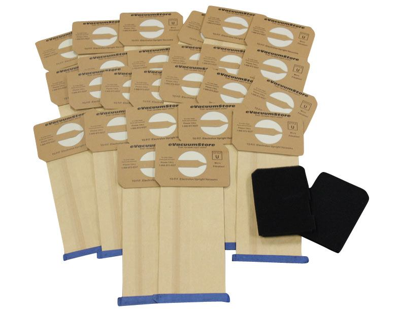Electrolux 25 pk Generic Upright Bags Style U and Filters
