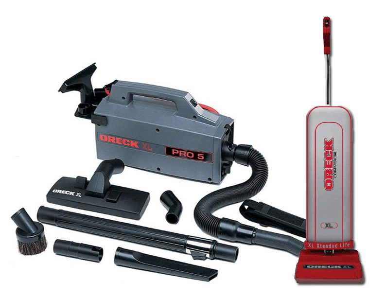 Oreck XL Compact Canister BB900DGR Vacuum with U2000R-1 Commercial Upright Vacuum