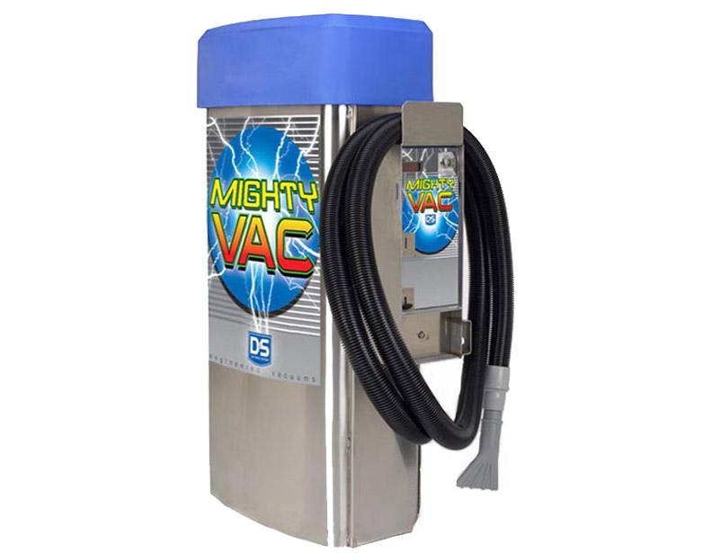 D&S 3 Motor Mighty Vac with Lighted Dome, Coin Acceptor & Digital Display