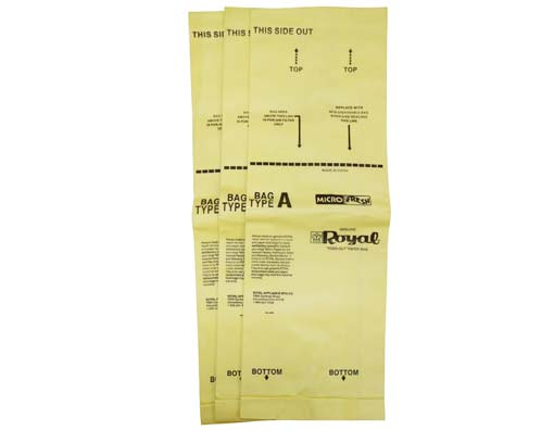 Royal-Aire Type A Vacuum Bags Genuine 3 Pack