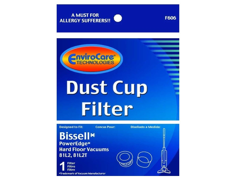 Bissell PowerEdge Dust Cup Filter by Envirocare F606 54A2