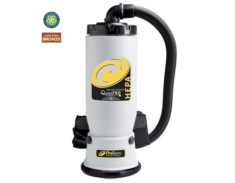 ProTeam QuietPro BP HEPA Backpack Vacuum with Attachment Kit A