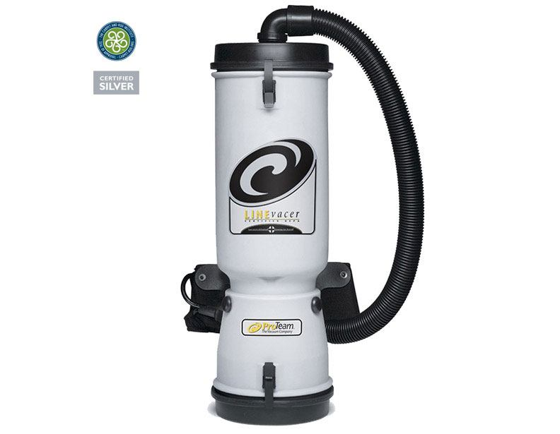 ProTeam LineVacer HEPA Backpack Vacuum with Xover Floor Tool Kit D