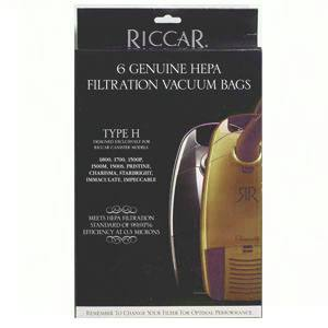 Riccar Genuine Canister Type H HEPA Bags - 6 Pack