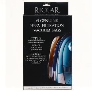 Riccar Genuine Canister Type Z HEPA Bags - 6 Pack