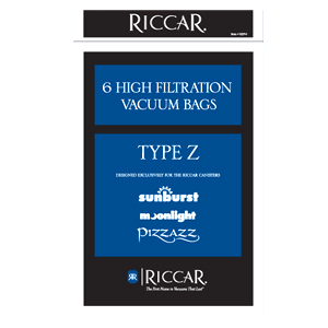 Riccar Genuine Canister Type Z Vacuum Bags - 6 Pack