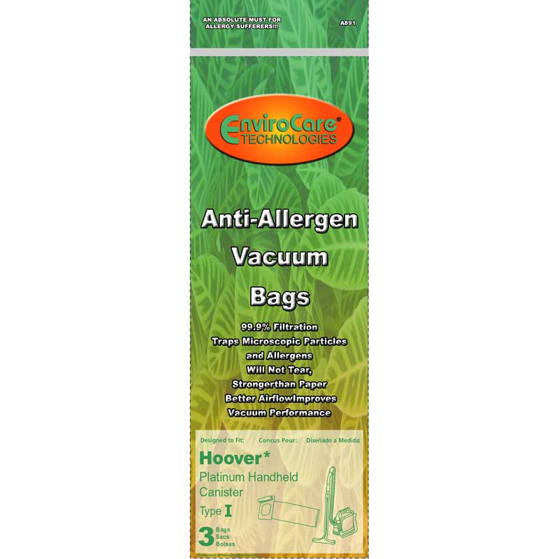 Hoover I Allergen Bags with Closure