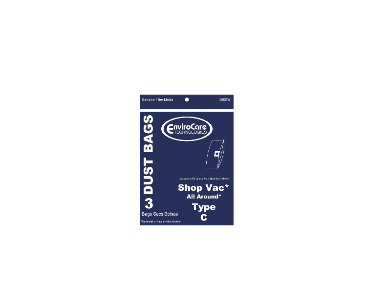 ShopVac All Around Type C Bags - Generic