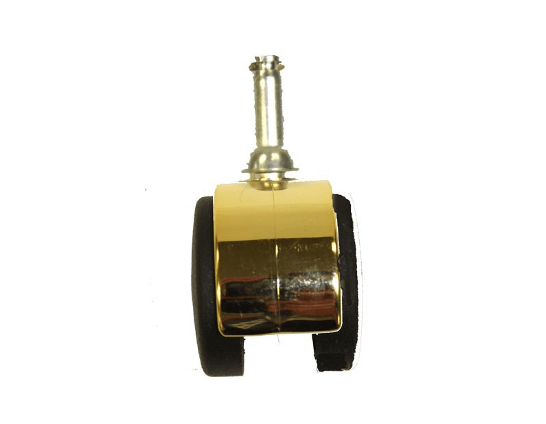 Rainbow D3 Gold and Brown Twin Wheel Caster