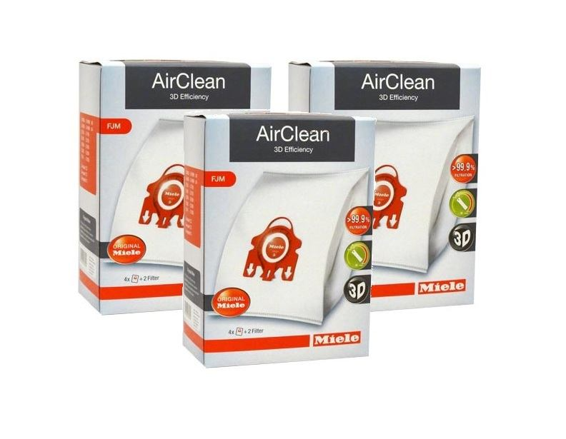 Miele AirClean Filter Bags Type FJM - 12 Pack
