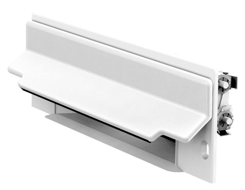 Central Vacuum CanSweep Baseboard Inlet White