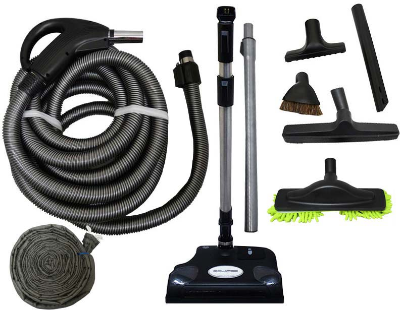 Soft Carpet Powerhead Central Vacuum Accessory Kit 30 Ft Direct Connect