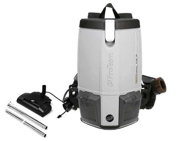 ProTeam ProVac FS 6 6 Quart Backpack Vacuum with Power Nozzle Kit