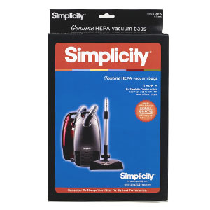 Simplicity Hepa Bag Full And Mid Size Cans 6Pk Type H