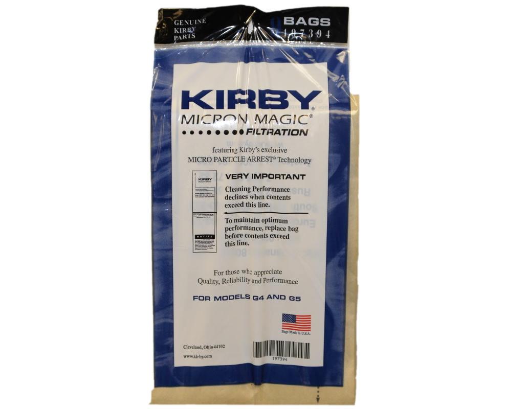 Kirby Generation 4 And 5 Vacuum Bags Genuine 9 Pack
