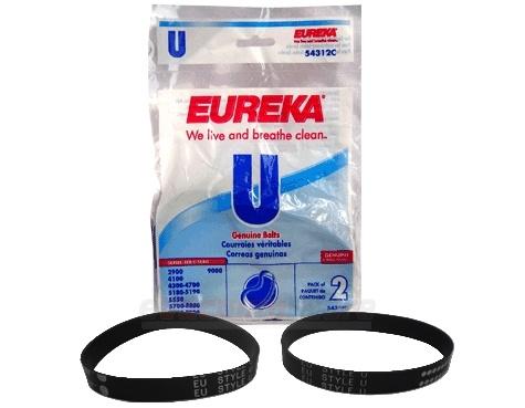 Eureka Vacuum Cleaner Bags Style U Belt 2 Pack