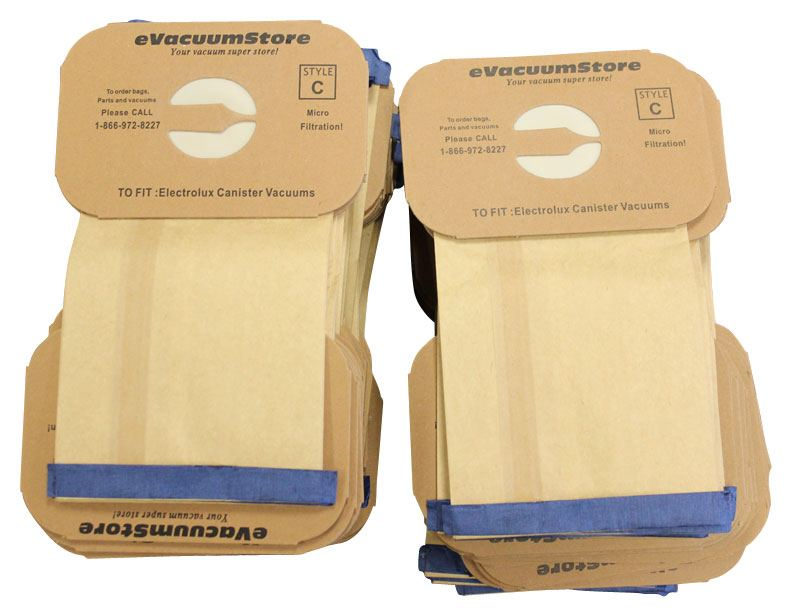 Electrolux 100 Pack Generic Canister Vacuum Bags Style C