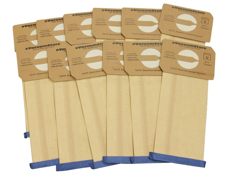 Electrolux 12 Pack Generic Upright Bags Style U