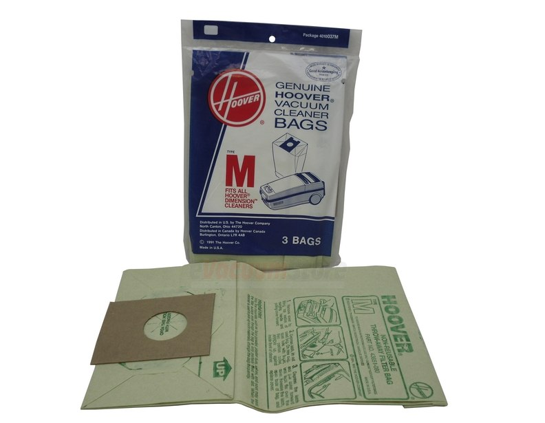 Hoover 3 Pack Genuine Type M Bags