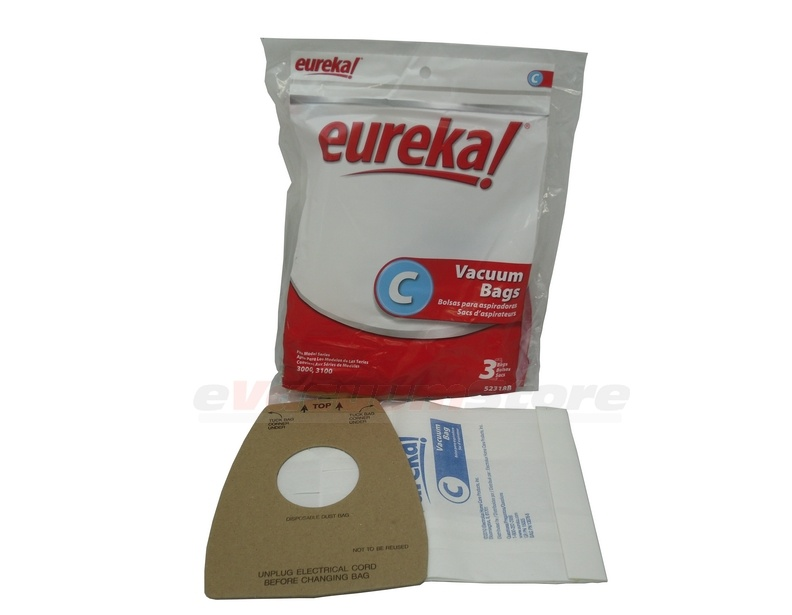 Eureka Mighty Mite Model 3109BM Paper Bag Package Assembly