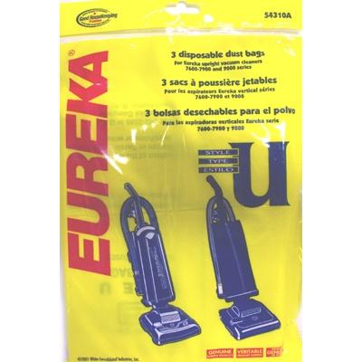 Eureka Bravo Vacuum Style U Bags 3 Pk 9800 Series
