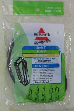 Bissell Style 7, 9, 10, and 12 Belt- 2 Pack