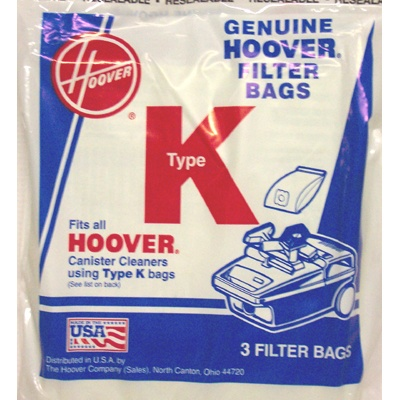 Hoover 3 Pack Genuine Type K Bags