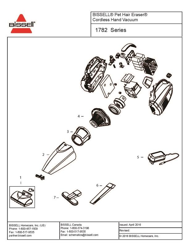 Bissell 1782 Hand Vacuum Parts Evacuumstore Com