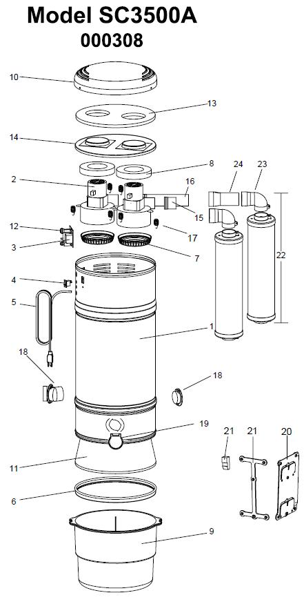 Beam Serenity Plus Sc3500a Parts Evacuumstore Com