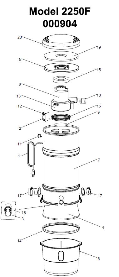 Beam Serenity 2250f Central Vacuum Parts Evacuumstore Com