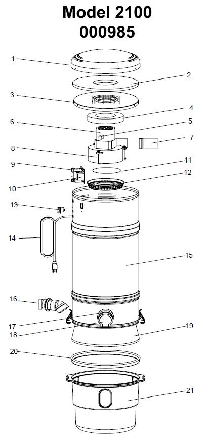Beam Serenity 2100 Central Vacuum Diagram