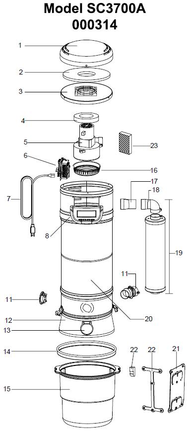 Beam Sc3700a Serenity Central Vacuum Parts Evacuumstore Com