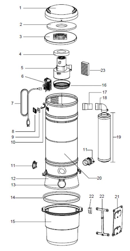 Beam Sc375c Central Vacuum Parts Evacuumstore Com
