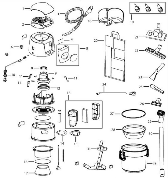 bissell 18p03 garage pro vacuum parts diagram