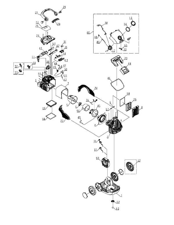 electrolux parts diagram for el7020b bz canister evacuumstore comDiagram Parts List For Model El6985a Electroluxparts Vacuumparts #5